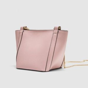 NWT Zara Baby Pink Mini Bucket Crossbody Bag.